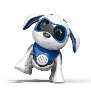 USB opladen Smart Touch sensing machine hond kinderen elektrisch speelgoed  ondersteunt wandelen & Knaaiende botten & lichten & muziek (blauw)