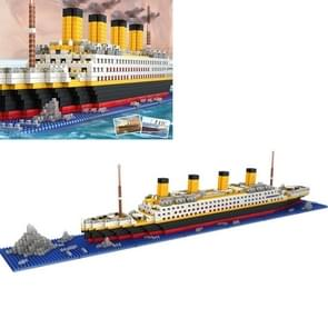 Titanic DIY Assembled Building Blocks Boat Children Educational Toy