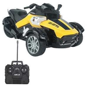 MoFun 869-72A 1:14 Remote Control Three-wheeled Sports Motorcycle Toy Moto (Yellow)