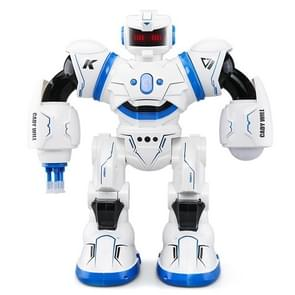JJR/C R3 CADY WILL Gesture Sensor Control Intelligent Combat RC Dancing Robot Toy with LED Light, Three Mode: Remote Control, Gesture Sensor, Touch Play(Blue)