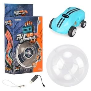 S618 360 Graden Rotary Mini High Speed Laser Pocket Car Racing Model Voertuig Speelgoed (Blauw)