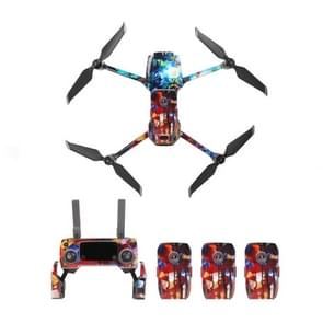 Fashion Cool Waterproof All-surround PVC Sticker Kit for DJI Mavic 2 Pro / Zoom Drone Quadcopter