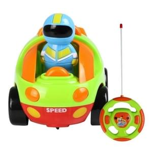 MoFun 508A Two-way Cartoon Remote Control Car Children Toy Car with Light & Music & Engine Sound(Green)