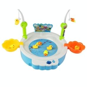 MoFun KM68015 USB Electric Magnetic Fishing Toys with Light & Music(Blue)