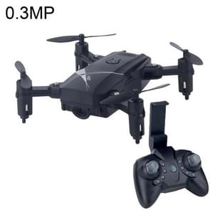 LF602 Mini Quadcopter Foldable RC Drone with 0.3MP Camera, One Battery, Support Forwards & Backwards, 360 Degrees Rotating, Altitude Hold Mode(Black)