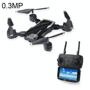 LF609 Foldable Wifi FPV RC Drone Quadcopter with 0.3MP Camera, One Battery, Support Forwards & Backwards, 360 Degrees Rotating, Altitude Hold Mode (Black)