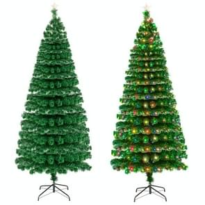 [US Warehouse] 7.5FT Indoor Outdoor Christmas Holiday Decoration Fiber Optic Christmas Tree met 260 Branches & 260 LED Lampen