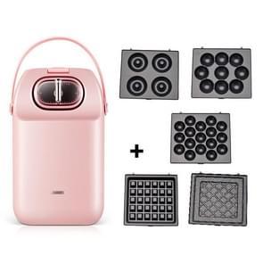 Multifunctioneel wafelijzer toaster home ontbijtmachine toast drukrooster(roze)