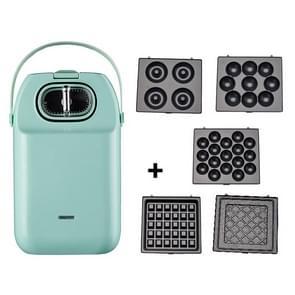 Multifunctioneel wafelijzer toaster home ontbijtmachine toast drukrooster (groen)