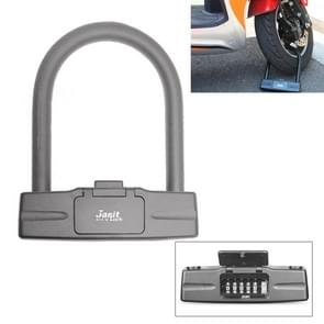 U-Shaped Motorcycle Bicycle Safety 5-Digital Code Combination Lock (Grey)