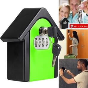 Hut Shape Password Lock Storage Box Security Box Wall Cabinet Safety Box (Green)