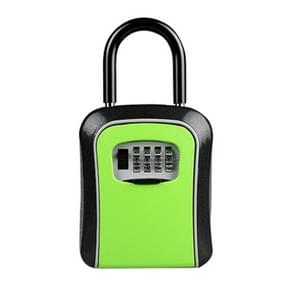 Car Password Lock Storage Box Security Box Hook Installation-free Safety Box (Green)