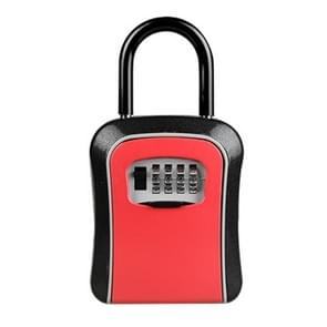 Car Password Lock Storage Box Security Box Hook Installation-free Safety Box (Red)