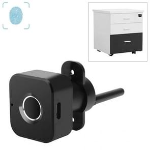 BP01-B Micro USB Charging Triple Drawer Right Hand Unlocking Smart Semiconductor Fingerprint Lock(Black)