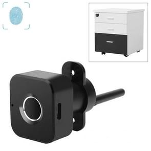BP01-A Micro USB Charging Triple Drawer Left Hand Unlocking Smart Semiconductor Fingerprint Lock(Black)