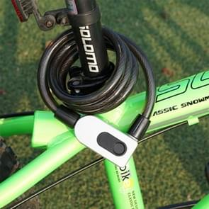 GQ10F IP66 Waterproof Anti-theft Bicycle Lock Smart Fingerprint Steel Ring Lock(Black)