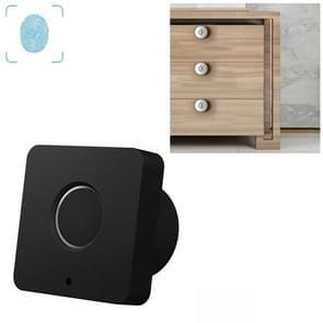 T5 Square Version Aluminum Alloy Panel Fingerprint Drawer Lock(Black)