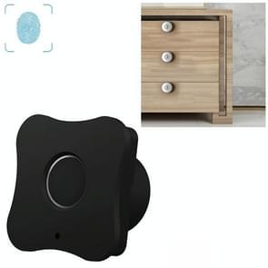 T5 Flower Version Aluminum Alloy Panel Fingerprint Drawer Lock(Black)