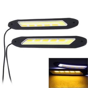 2 PC's DC 12V 10W 6000K auto DRL Daytime Running Lights Lamp (licht wit + geel licht)