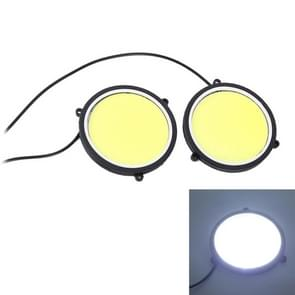 2 PC's DC 12V 10W 6000K circulaire auto DRL Daytime Running Lights Lamp (wit licht)