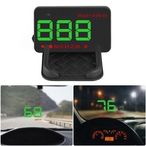Geyiren A5 HUD 3.5 inch Car Head Up Display with GPS System, Two Mode Display, Light Sensors, KM/h MPH Speed, Compass, Speed Alarm (Green Light)