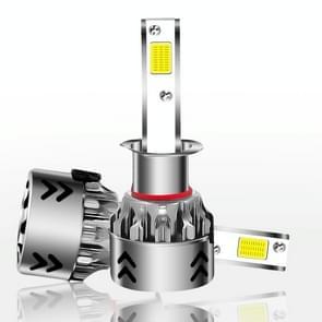 2 stk H1 27W 3000LM 6000K puur wit COB Chips LED koplamp bollen conversie Kit  DC 9-36V