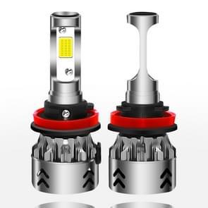 2 stk H11 27W 3000LM 6000K puur wit COB Chips LED koplamp bollen conversie Kit  DC 9-36V