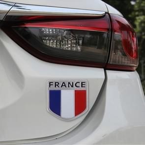 French Flag Style Shield Shape Metal Car Badge Decorative Sticker