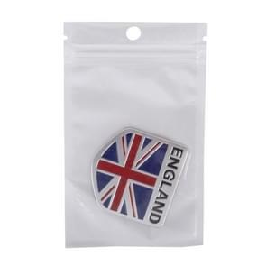 England Flag Style Metal Car Sticker