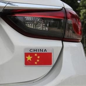 China vlag stijl metalen auto Sticker