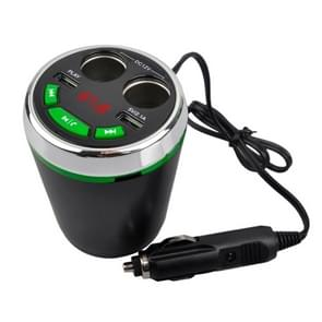 A23 Multi-function Car Kit Bluetooth Charger Cigarette Lighter, Support Bluetooth / TF Card / USB Disk / USB (Green)