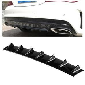 Universele auto Rear Bumper Lip Diffuser 7 Shark Fin stijl zwart ABS  grootte: 85 3 x 79 8 x 13 4 cm