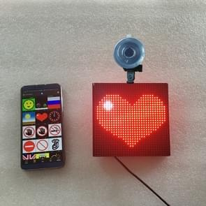 32x32 pixel Full Color draadloze Bluetooth APP controle Emoji smiley gezichten LED auto teken LED display verlichting Board