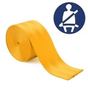 Auto gemodificeerde polyester zadel riem harnas Racing Safety veiligheidsgordel  lengte: 3.6 m (geel)