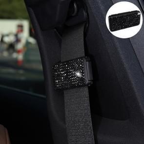 Auto veiligheidsgordels Crystal clip Fixer aanscherping regulator (zwart)