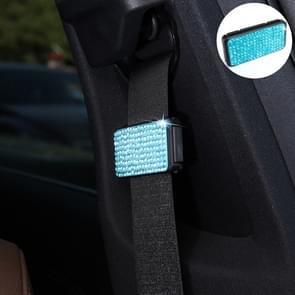 Auto veiligheidsgordels Crystal clip Fixer aanscherping regulator (blauw)