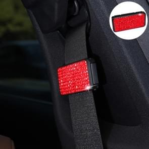 Auto veiligheidsgordels Crystal clip Fixer aanscherping regulator (rood)