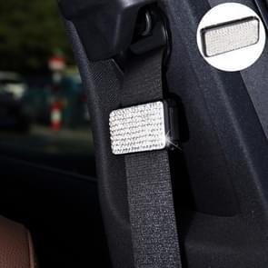 Auto veiligheidsgordels Crystal clip Fixer aanscherping regulator (wit)