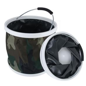 11L Cylinder Shape Foldable Camouflage Printed Bucket Pail voor Fishing Camping