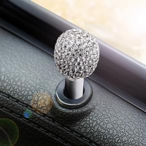 Crystal Car Aluminium Alloy Door Lock Modified Decoration (White)