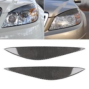 Auto Carbon Fiber Light wenkbrauw voor Mercedes-Benz W204 pre-facelift 2008-2011
