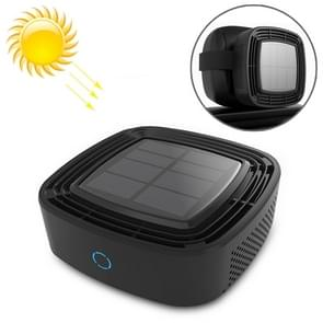 XJ-005 Car / Household Solar Energy Smart Touch Control Air Purifier Negative Ions Air Cleaner(Black)
