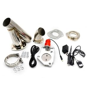 CNSPEED Stainless Steel Car Remote Control Electric Exhaust Valve Pipe Set, Size: 2.5 inch