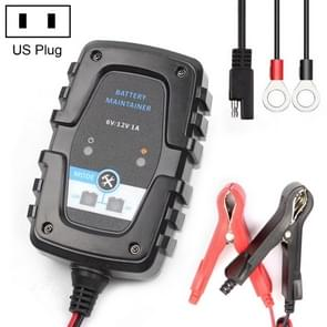 6V / 12V 1A Automatic Smart AGM Battery Charger Maintainer for Car Motorcycle Scooter with SAE Cable,  US Plug