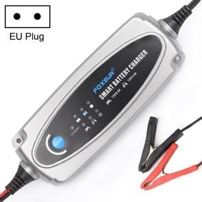 0.8A / 3.6A 12V 5 Stage Charging Battery Charger for Car Motorcycle,  EU Plug