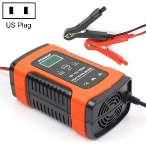 12V 6A Intelligent Universal Battery Charger for Car Motorcycle, Length: 55cm, US Plug (Red)