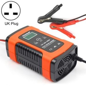 12V 6A Intelligent Universal Battery Charger for Car Motorcycle, Length: 55cm, UK Plug (Red)
