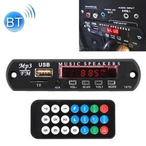 Car 12V Audio Bluetooth MP3 Player Decoder Board FM Radio TF USB 3.5 mm AUX, without Recording