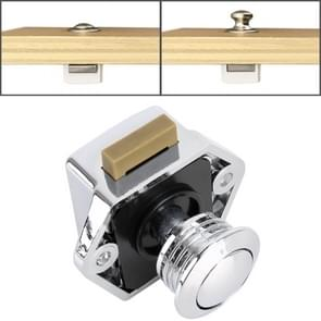 Press Type Drawer Cabinet Catch Latch Release Cupboard Door Stop Drawer Cabinet Locker for RV / Yacht / Furniture(Chrome)