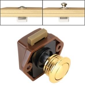 Press Type Drawer Cabinet Catch Latch Release Cupboard Door Stop Drawer Cabinet Locker for RV / Yacht / Furniture(Gold)